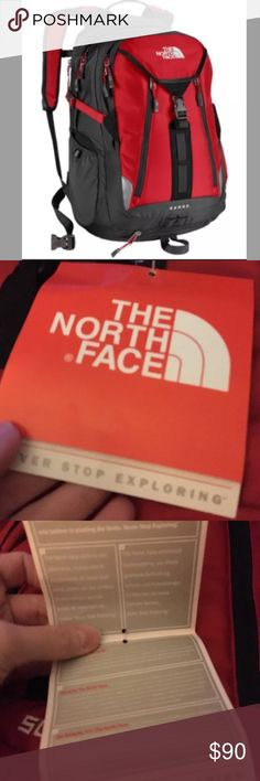 The North Face Surge Backpack Laptop Approved red New With Tags  The North Face  Surge Backpack Laptop Approved  Red The North Face Bags Backpacks