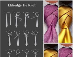 Nothing suits a man better than a suit and tie. If you know how to pull off a suit, you may want to learn how to make this Eldredge tie