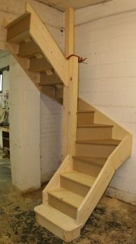Loft Stairs Design on Staircase Dimensions Stairs Are Bespoke Manufactured To Exact Tiny House Stairs, Attic Stairs, Basement Stairs, Stairs To Loft, Attic House, Loft House, Attic Loft, Loft Room, Attic Rooms