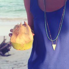 Beachside accessories never looked so good. Our Atlas Turquoise Necklace and Tatu Bone Triangle Necklace make for a perfect layering combination.   Jimani Collections