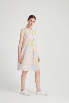 Block Stripe Dress in Multi Coloured