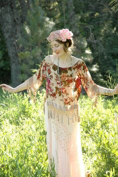 Velvet Burnout Floral Fringed Top... Boho Gypsy by AstralBoutique, $38.00