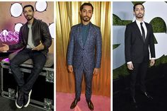 Riz Ahmed's Valentino suit is a sartorial mike drop – tailored to perfection, covered in stars and flowers, and just crazy enough for an event like the Elle Style Awards. Granted, he also looks just as good in a plain black suit because, again, tailored beautifully. The (kind-of) off duty style is really wear where the money is though – at his chats with Kiss FM UK, he looks just as sharp as he does in suiting.