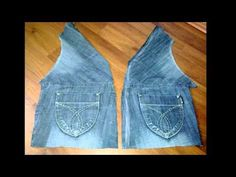 DIY -from OLd jeans  --- to-- stylish Vest  http://www.youtube.com/watch?v=Sx56BtDutJ0=related