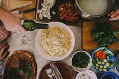 untitled by luisa brimble Kinfolk Style, People Eating, Egg Noodles, Simple Pleasures, Palak Paneer, Food Photography, Picnic, Good Food, Lunch