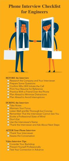 Engineer Phone Interview Tips Infographic