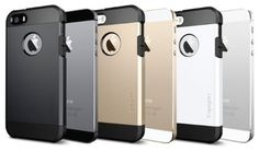 SPIGEN SGP SGP10490 Tough Armour iPhone 5-5S Case - Metal Slate, Champagne Gold, Satin Silver, Smouth White, Sould Black http://coolpile.com/gear-magazine/spigen-tough-armour-iphone-5-5s-air-cushioned-protective-case/ via @CoolPile.com.Com  #CoolPile #Gadgets #Gear #Geek #Tech  Amazon.com, iPhone, iPhone Case