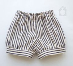 The Meyer shorts, baby shorts, toddler shorts, sailor shorts, striped, bloomers, unisex, hipster baby clothes