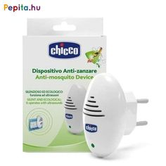 CHICCO Device Anti Mosquito Ultrasonic Socket with light Night light Anti Mosquito, Mosquitos, Baby Wipe Warmer, Classic White, Night Light, Led, White Necklace, Diapering, Silent E