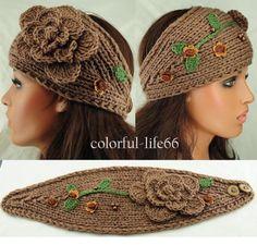 Crochet head wrap.  Ear warmer.