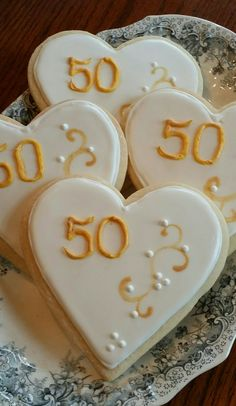 50th Anniversary Cookies 50yearstogether 50years 50thanniversary Goldenanniversary Yummydelicious Anniversarycookies
