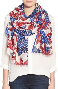 Tory Burch Oversized Floral Scarf available at #Nordstrom