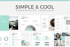 Simple & Cool PowerPoint Template by Wipavee on @creativemarket