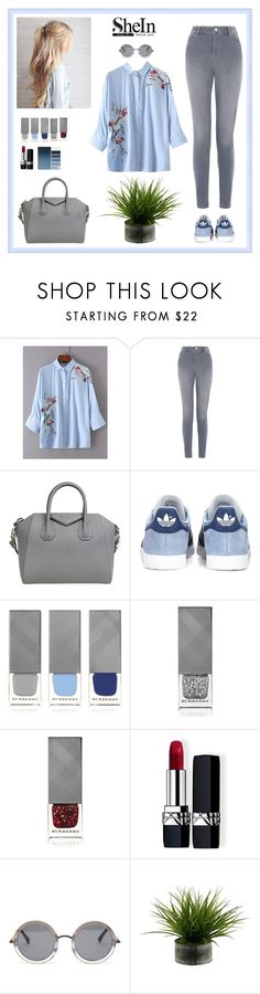 """""""Sans titre #38"""" by deborah-lefert ❤ liked on Polyvore featuring Monsoon, Givenchy, adidas Originals, Burberry, Christian Dior and The Row"""
