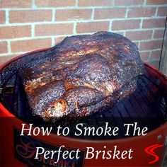 Learn how to smoke a brisket that's tender, juicy, and flavorful! Prepare, season, smoke and serve a great tasting smoked beef brisket. Best Smoked Brisket Recipe, Smoked Beef Brisket, Smoked Meat Recipes, Grilling Recipes, Gourmet Recipes, Brisket Meat, Texas Brisket, Smoked Ribs, Dinner Recipes