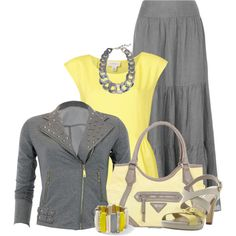 """""""grey and yellow"""" by countrycousin on Polyvore"""