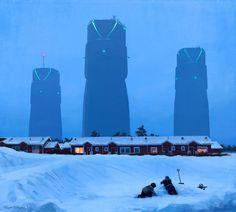 Simon Stålenhags Bilder sind inspiriert durch seine Heimat Schweden, die er durch surreale und SF-Elemente verfremdet. Sein Stil kann einem bekannt vorkomm