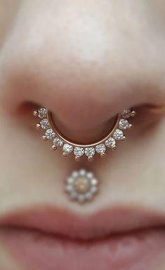 Brice Swarovski Crystal Clicker in Silver Daith Rings, Nose Rings, Ear Rings, Septum Ring, Septum Jewelry, Cartilage Earrings, Ear Piercings, Latest Jewellery, Jewellery Designs