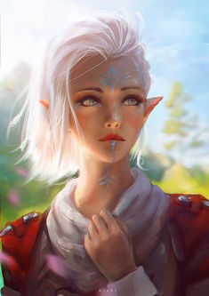 f Wood Elf Druid Studded Leather Armor portrait female Farmland hills mixed forest lg Character Inspiration Fantasy, Fantasy Character Design, Character Art, Story Inspiration, Fantasy Girl, Chica Fantasy, Fantasy Wolf, Fantasy Princess, Fantasy Dragon