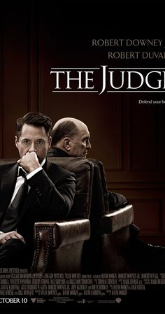 Directed by David Dobkin.  With Robert Downey Jr., Robert Duvall, Vera Farmiga, Billy Bob Thornton. Big city lawyer Hank Palmer returns to his childhood home where his father, the town's judge, is suspected of murder. Hank sets out to discover the truth and, along the way, reconnects with his estranged family.