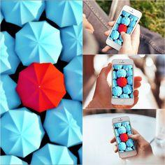 Umbrellas 3D Red Gray iPhone Wallpaper  >>>Click for original size >>> http://www.wallpaperterest.com/umbrellas-3d-red-gray-iphone-6-wallpaper/