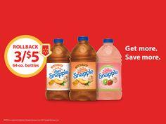 #SnappleRollback, #ad, #Walmart, Snapple On Rollback at Walmart, Snapple Deal at Walmart, Snapple Coupon, Snapple at Walmart, Stock up on Snapple.
