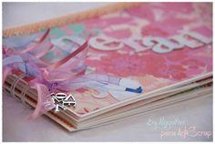 Esperando - Mini Album de Scrapbooking, creado por nuestra diseñadora Alagaina para Arte Scrap. www.artescrap.com