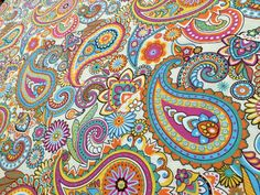 CREAM PAISLEY Designer Curtain Upholstery cotton fabric material - 140cm wide - CREAM Paisley Canvas