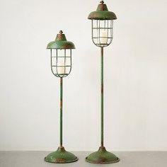 Metal Standing Lantern Pillar Holders
