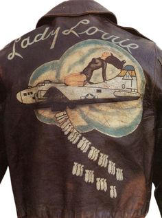 "The B-17 known as ""Lady Lorrie,"" from the 306th Bomb Group, flew 35 missions, according to this jacket. The original owner is unknown. Via Manion's International Auction House."
