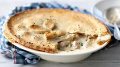 This comforting, creamy chicken pie uses ready-made pastry for a quick and easy mid-week meal.