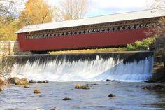 Paper Mill Covered Bridge and Falls Bennington VT