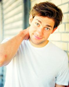 John Krasinski, how adorable are you with those big puppy eyes...!