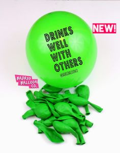 BADASS BALLOONS FOR BADASS PEOPLE.   It's a party in party in your pocket! Badass Balloons aren't about the occasion they are about the message.  We have got that down to an art form. We say the hilarious, abusive, insulting and/or rude things you'd like to, lightheartedly with sass & finesse on stylish party balloons.   •Natural latex balloons •100% Biodegradable  Rude Balloons, Offensive Balloons, Abusive Balloons. Drinks well with others.