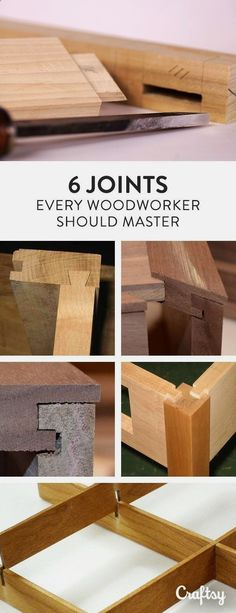 Teds Wood Working - These 6 joints can be used in many projects or combined for interesting designs. Explore your options for joints here! - Get A Lifetime Of Project Ideas & Inspiration! #WoodworkIdeas