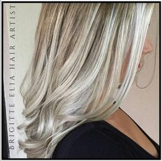 Stylist @brigitteeliahairartist melted #KenraColor 7NA to 9PV and 10A Demi-Permanent to create this beautiful, cool shade. #blonde
