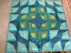 Fantasia log cabin quilt by joanhorkey on Etsy, $250.00