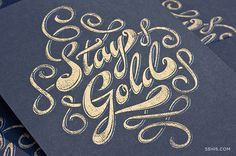 oh so lovely type with gold letterpress.