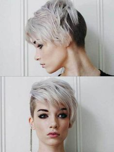 15 Cool Short Side Haircuts: #15. One Side Shaved Pixie; #shorthair; #pixie; #shavedsides
