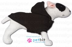 Polarfleece-Jacke mit Kapuze Fleecejacket Black - Fleecejacket Black HoodieHunde-Fleece-Jacke mit Kapuze Warme leichte Hunde-Polar-Fleece-Jacke in schwarz mit Kapuze.Die Hundejacke wird an Brust und B