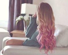 Dirty Blonde Hair With Blue Dip Dye Short Fashions