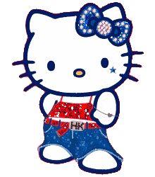 Hello kitty glitter gifs