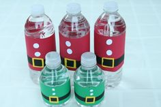 Santa and Elves Water Bottles