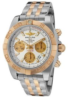 Breitling  Men's Chronomat 41 Chronograph Silver Dial Two Tone