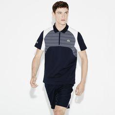 Polo Lacoste Tennis de corte regular de punto jersey ultra-ligero con estampado de malla |LACOSTE