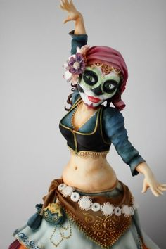 Day of the Dead Gypsy Dancer cake