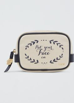 Drape Rjames Put Your Face on Powder Room Pouch as seen on Reese Witherspoon