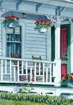 Vintage Cottage Porch ~ by Joy Laking