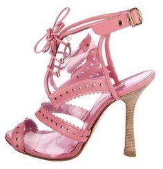 Oscar de la Renta PVC Caged Sandals buy cheap low shipping 2H9orUYDR