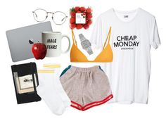"""""""Chill"""" by miss-crumble on Polyvore featuring mode, Cheap Monday, Moleskine, Casio, Linda Farrow, Matteau et HUE"""